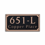 Dekorra Products 651 Large Rectangular Address Plaques