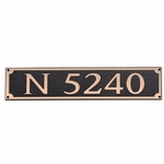 Dekorra Products 656 Large Horizontal Address Plaques