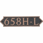 Dekorra Products 658 Large Horizontal Address Plaques