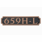 Dekorra Products 659 Large Horizontal Address Plaques