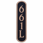 Dekorra Products 661 Medium Round Vertical Address Plaques