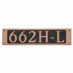 Dekorra Products 662 Medium Horizontal Address Plaques