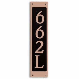 Large Rectangular Wall Mount Vertical Address Plaque Copper Black