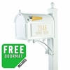 Whitehall Deluxe Mailbox Package White