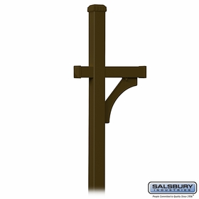 Salsbury 4870BRZ Deluxe Mailbox Post 1 Sided In Ground Mounted Bronze Finish