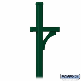 Salsbury 4870GRN Deluxe Mailbox Post 1 Sided In Ground Mounted Green