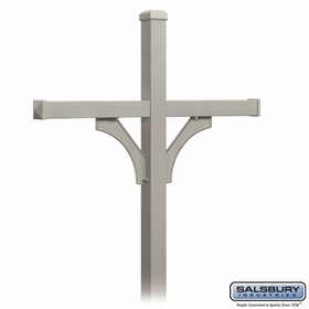 Salsbury 4874NIC Deluxe Mailbox Post 2 Sided For (4) Mailboxes In Ground Mounted Nickel Finish