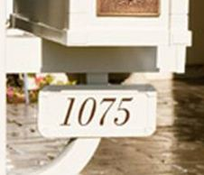 Mailbox Post Address Plaques