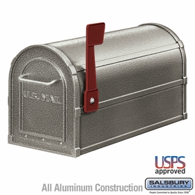 Salsbury 4850D-PEW Deluxe Rural Mailbox Pewter