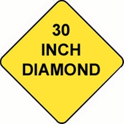 Diamond Sign Reflective Faceplate 30""