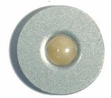 Doorbell Button Satin Silver