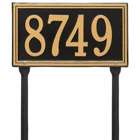 Double Line Standard Lawn Address Sign - One Line