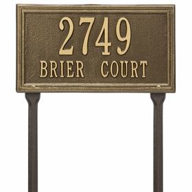 Double Line Standard Lawn Address Sign - Two Line