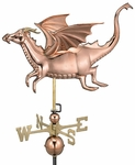 Dragon Weathervane - Blue Verde Copper
