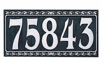 Dresden Five Number Wall Plaque - (1 Line)