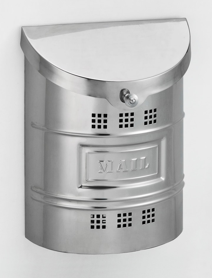 Ecco Mailboxes E2m Wall Mounted Polished Stainless Steel