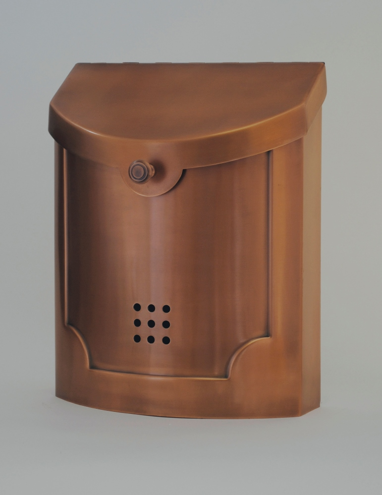 Ecco Mailboxes E4cp Wall Mounted Copper Plated Modern