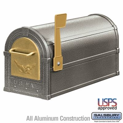 Salsbury 4855E-PWG Eagle Rural Mailbox Pewter Gold Eagle
