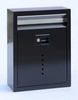 Ecco E10 Black Galvanized Steel Wall Mailbox