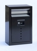Ecco E9 Black Galvanized Steel Wall Mailbox