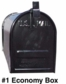 Newport Plus Double Mailbox Post in Black