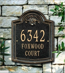 Elderwood - Standard Lawn Address Sign - Three Line