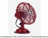 Electric Fan-Watermelon Red-Small-1 speed-Non oscillating