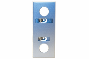 Escutcheon - Anod Aluminum with Design