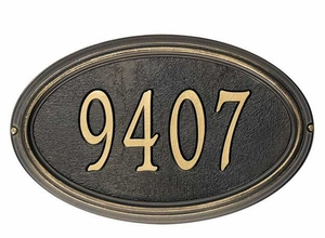 Estate Size Oval Plaques