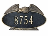 1 Line Eagle Oval Wall or Lawn Plaque