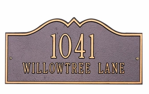 Estate Size Hillsboro Wall or Lawn Plaque - (1 or 2 Lines)