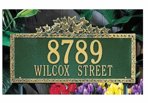 Standard Size Ivy Wall or Lawn Plaque - (1 or 2 lines)