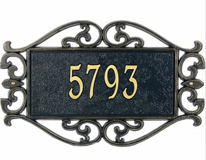 Standard Size Lewis Fretwork Wall or Lawn Plaque - (1 or 2 Lines)