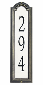 Estate Size Manchester Vertical Reflective Wall Traffic Sign - (1 Line)
