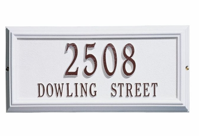 Estate Size Springfield RECTANGLE Wall or Lawn Plaque - (1 or 2 lines)