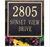Standard Size SQUARE Wall or Lawn Plaque - (1, 2, or 3 lines)