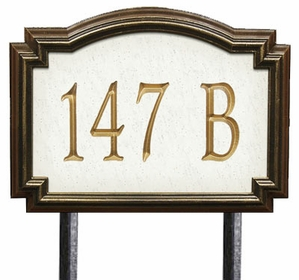 Estate Size Williamsburg Artisan Stone Wall or Lawn Plaque - (1 Line)
