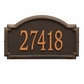 Estate Size Williamsburg Wall or Lawn Plaque - (1 or 2 lines)