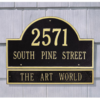 Whitehall Estate Sized ARCH MARKER Wall Plaque EXTENSION - (1 Line)