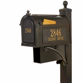 Whitehall Estate Mailbox Packages (includes door plaque)