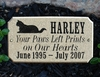 "Executive ""Cut Corner"" Rectangle Solid Granite Engraved Pet Plaque - Cat"