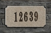 Executive Rectangle  Solid Granite Plaque with Engraved Text - Sand Natural Granite