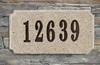 Executive Rectangle  Solid Granite Plaque with Engraved Text - Sand Polished Granite