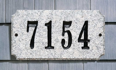 Executive Rectangle  Solid Granite Plaque with Engraved Text - White Granite