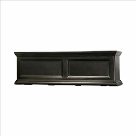 Fairfield Window Flower Box 3ft Wide in Black (includes wall mount brackets)