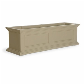 Fairfield Window Flower Box 3ft Wide in Clay (includes wall mount brackets)
