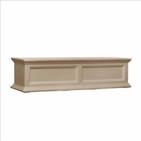 Fairfield Window Flower Box 4ft Wide in Clay (includes wall mount brackets)