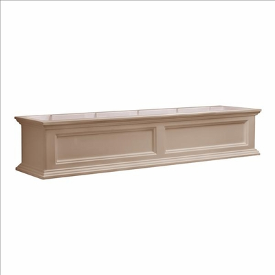 Fairfield Window Flower Box 5ft Wide in Clay (includes wall mount brackets)
