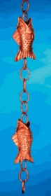 Fish Rain Chain Polished Rain Chains
