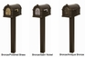 Fleur de Lis Keystone Series Mailbox and Standard Post Packages